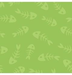 fish bones seamless pattern vector image