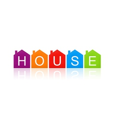 House sign realty text design element vector