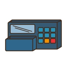 Register machine store isolated icon vector