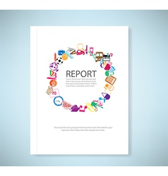 Report Back to School of paper background vector image