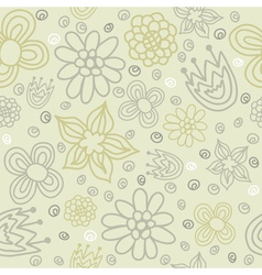 seamless pattern with colored flowers vector image vector image