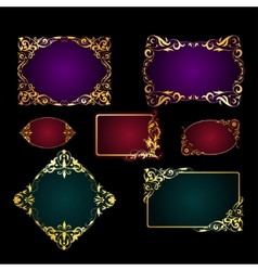 Set of template for greeting card invitation vector image vector image