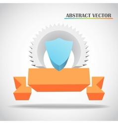 shield and ribbon 3d vector image