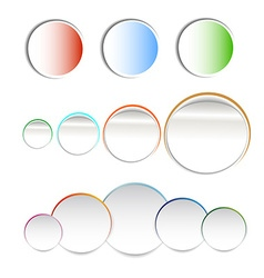 Stickers paper vector image