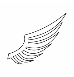 Wing icon outline style vector image