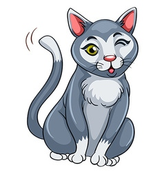 Cat with happy face vector image vector image
