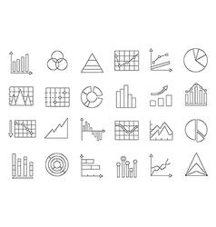 Charts icons set vector image vector image