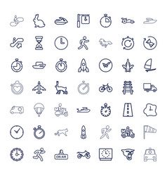 49 speed icons vector