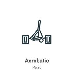 Acrobatic outline icon thin line black vector