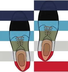Advertising mens shoes The color palette is the vector