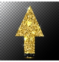 Arrow cursorGold glitter icon web sparkles vector