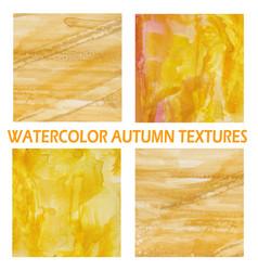 Autumn watercolor background vector