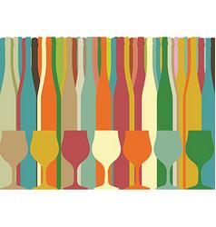 Background Bottle Ilustration vector