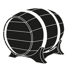 Black and white beer barrel silhouette vector