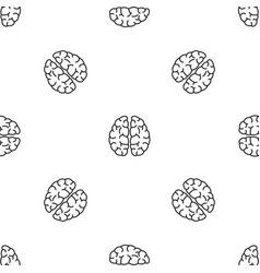 Brain neurons pattern seamless vector