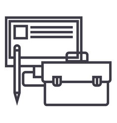 business perfomancemonitor case pencil vector image