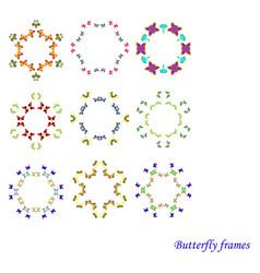Butterfly frame vector