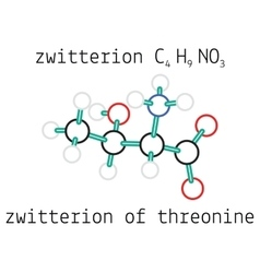 C4H9NO3 zwitterion threonine amino acid molecule vector image