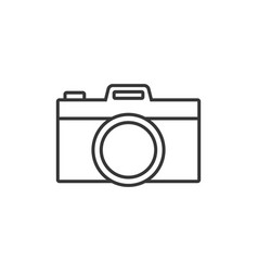 camera simple outline icon vector image