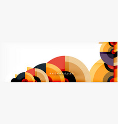 circle abstract background with triangular shapes vector image