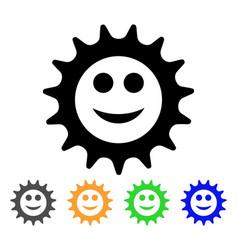 Cog glad smiley icon vector