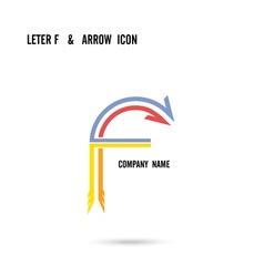 Creative letter F icon logo design vector