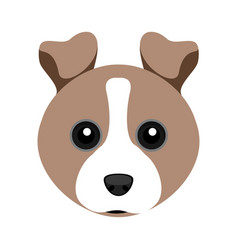 Cute fox terrier dog avatar vector