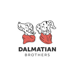 Dalmatian dogs designs vector
