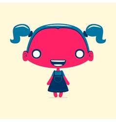 Dark red girl vector image