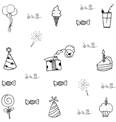 Element doodle of party for kids vector image