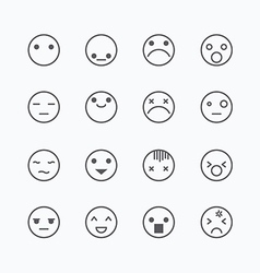 Emoji avatar collection set emoticons isolated ico vector