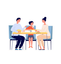 family play board game people playing woman vector image