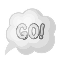 Go in the cloudfans single icon in monochrome vector