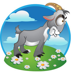 Goat on background vector