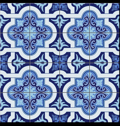 Gorgeous seamless pattern white blue colors vector