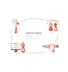graphic design - idea sketch presentation vector image