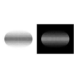 halftone distort ball circle dots 3d sphere vector image