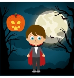 Happy halloween festival party design vector image