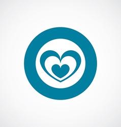 Heart icon bold blue circle border vector