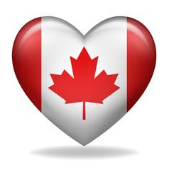 Heart shape canada insignia vector