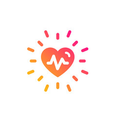 Heartbeat icon medical hear beat sign vector