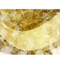 Holiday golden frame vector image