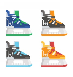 Ice skating shoes vector