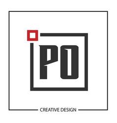 Initial letter po logo template design vector