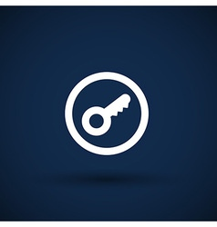 Key icon Lock simbol Security sign Flat design vector image