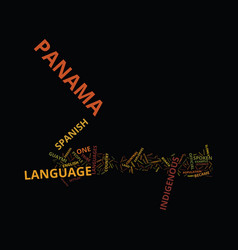 Language of panama text background word cloud vector