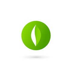 Letter O number 0 eco leaves logo icon design vector
