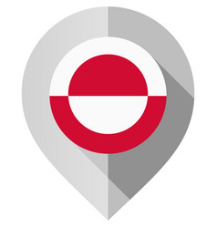 Marker with flag for map vector
