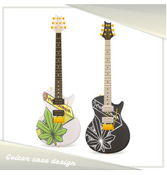 Medical marijuana guitar one vector
