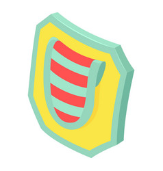 modern shield icon isometric style vector image